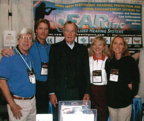 Garry Gordon with George Bush