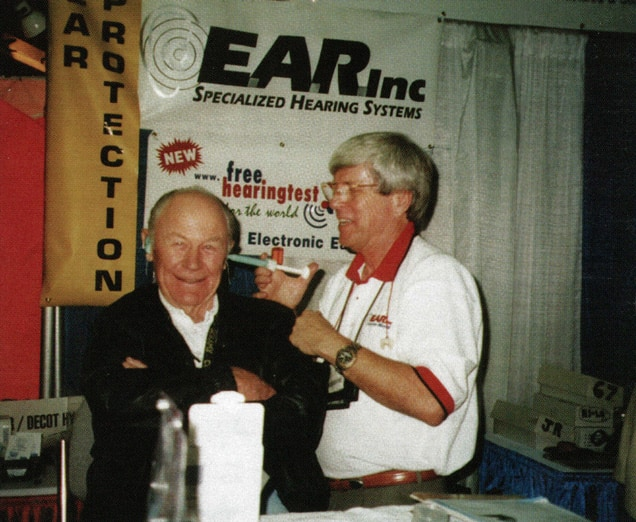 Garry Gordon with Chuck Yeager