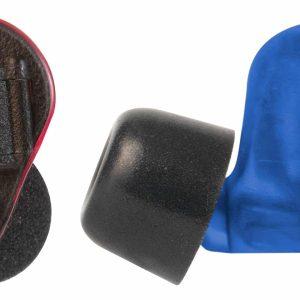 Soft Shot Pro Flex 360 Black PB Earplugs Red and Blue