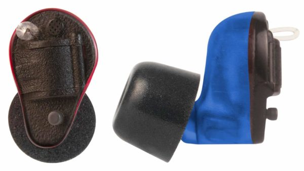 Soft Shot Pro Flex 360 Black PB Earplugs Red and Blue