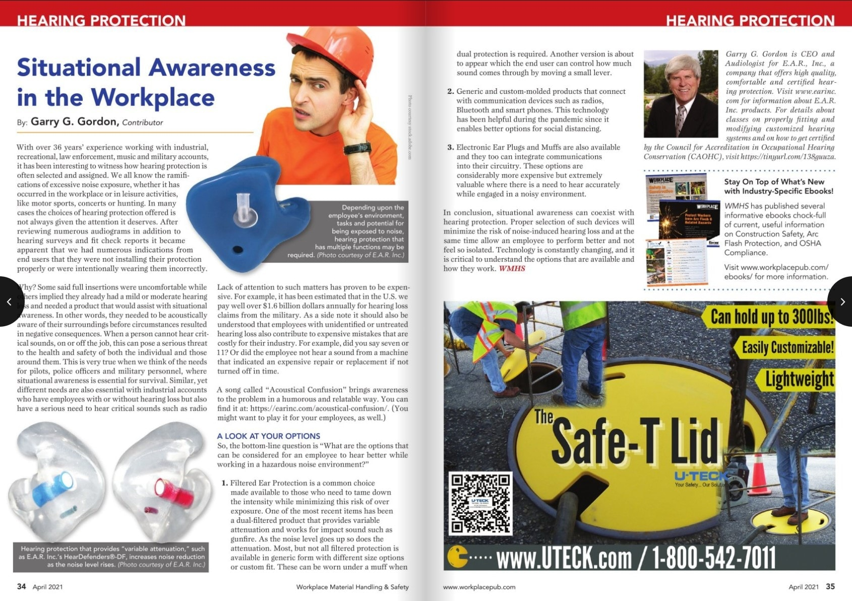 workplace magazine article about workplace hearing protection